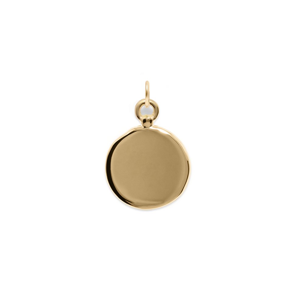 Fluid Letter Medaillon Pendant Solid Gold 14 ct - High Gloss