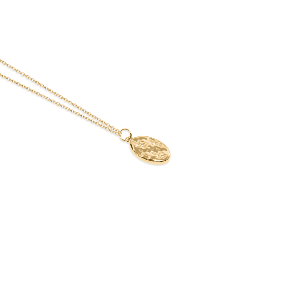 Mineral Necklace Solid Gold 14 ct