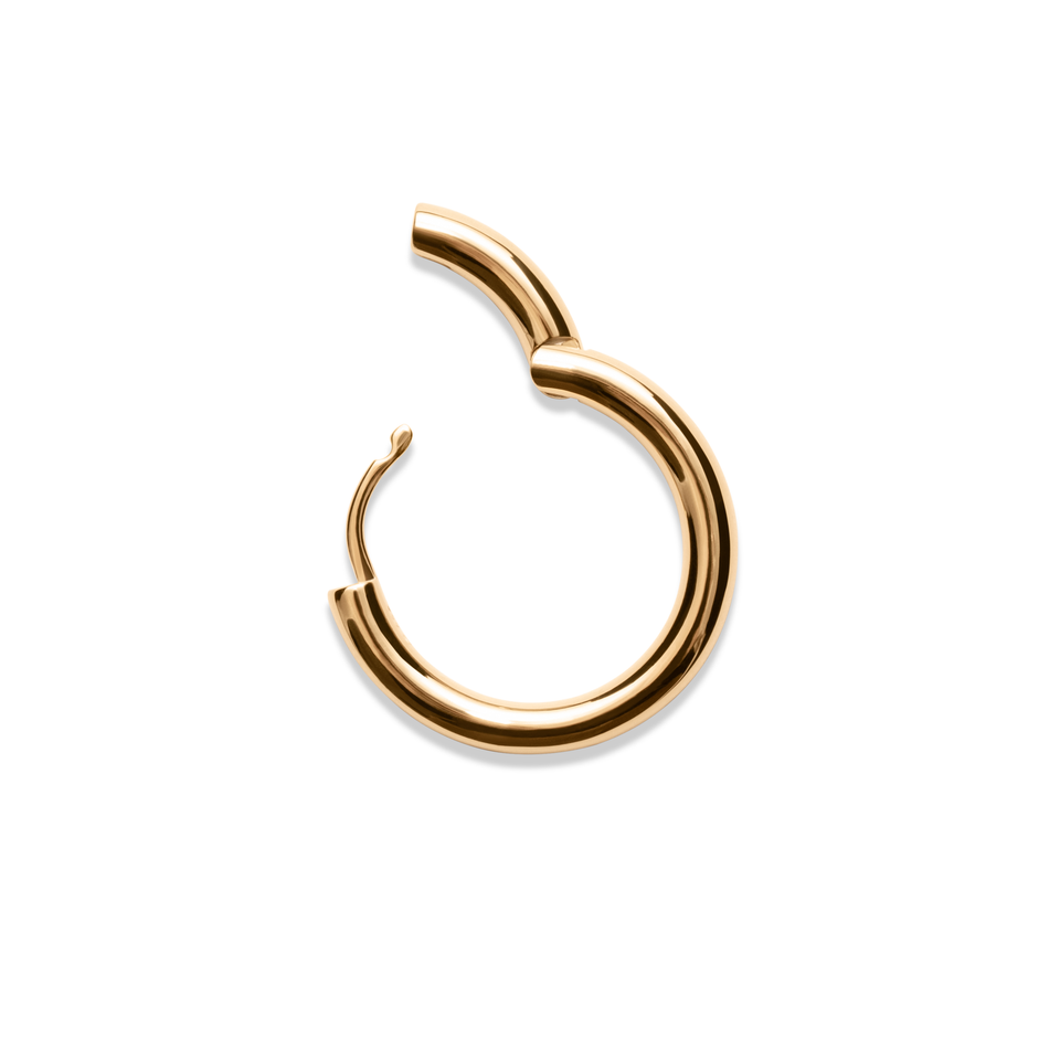 Bold Hoop Earrings Solid Gold 14 ct