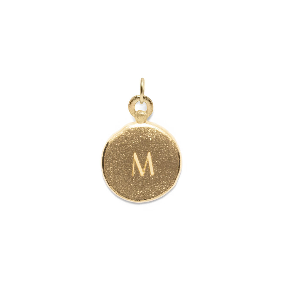 Fluid Letter Medaillon Pendant Solid Gold 14 ct