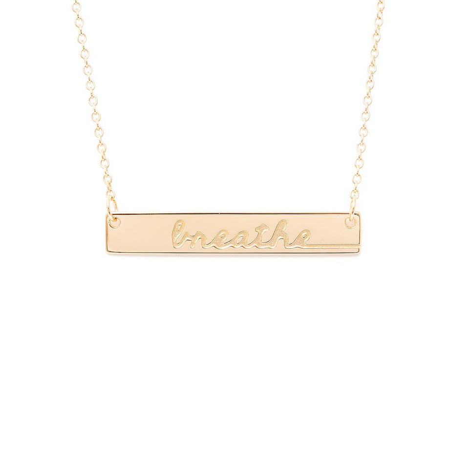Mantra Breathe Necklace