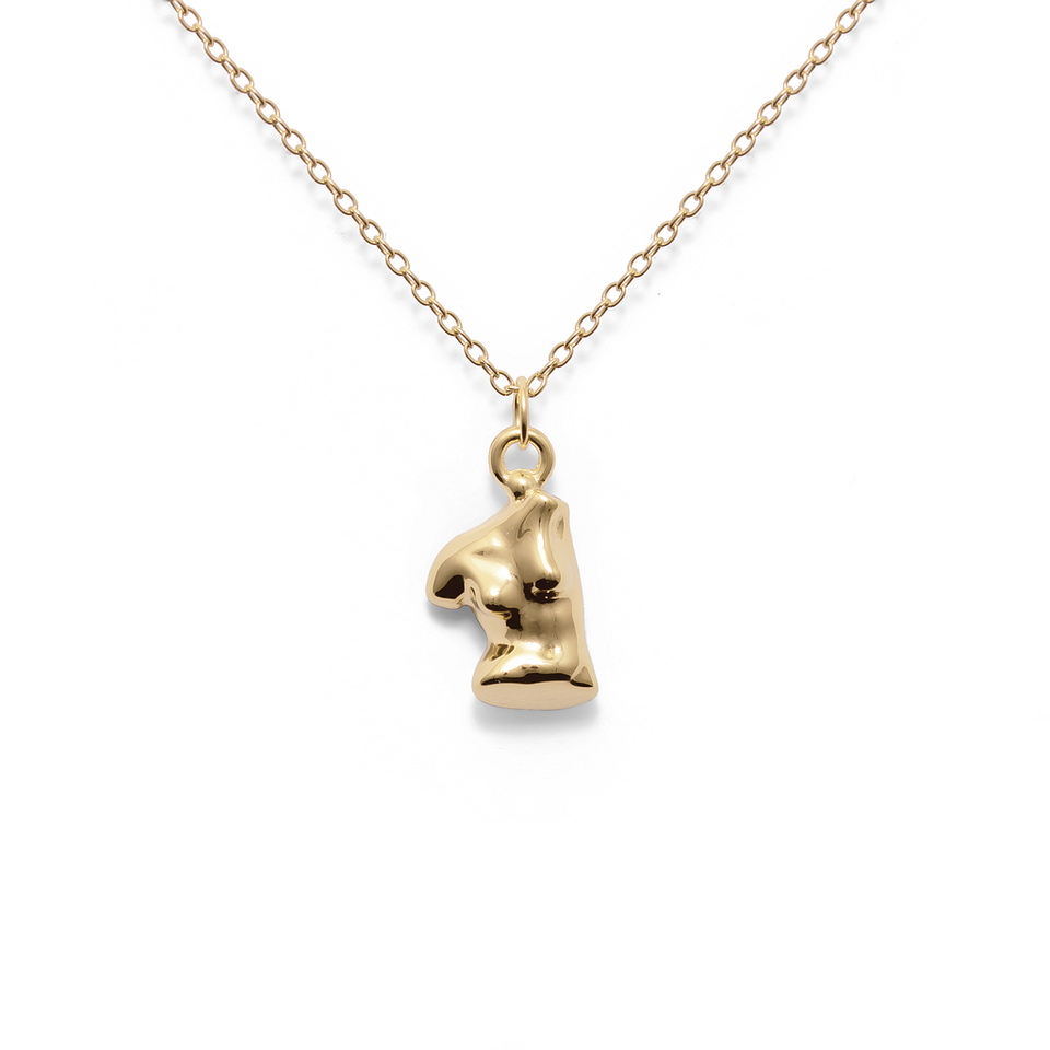 Womanhood Necklace Solid Gold 14 ct