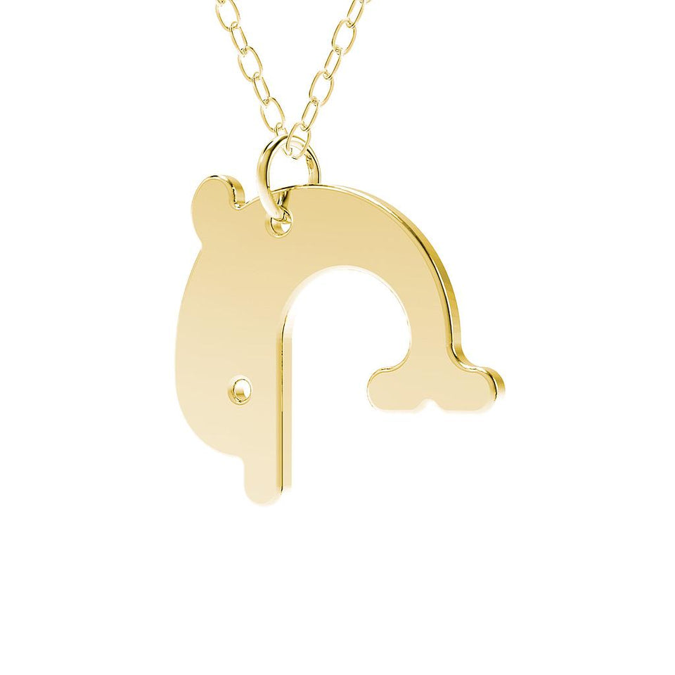 minimals dolphin necklace (45cm)