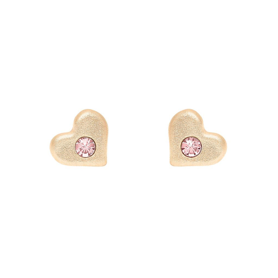 Like Mother... Heart Earrings Pink