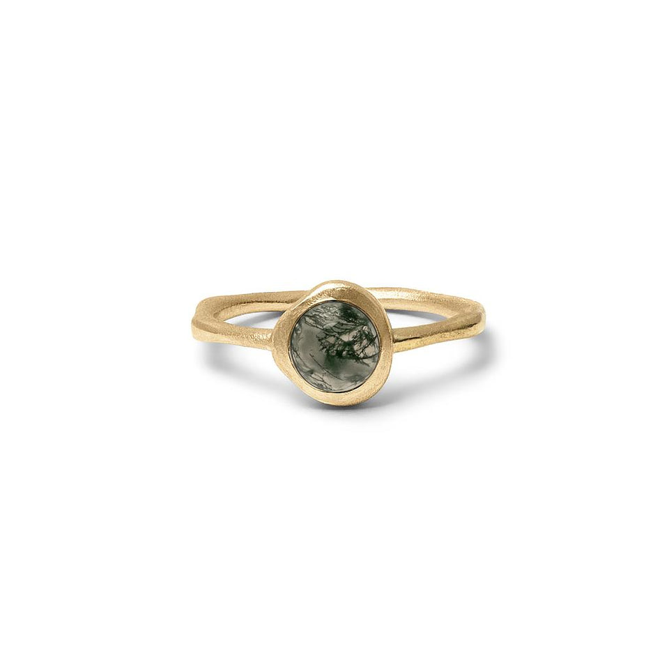 Zodiac Birthstone Ring (Virgo) Solid Gold 14 ct