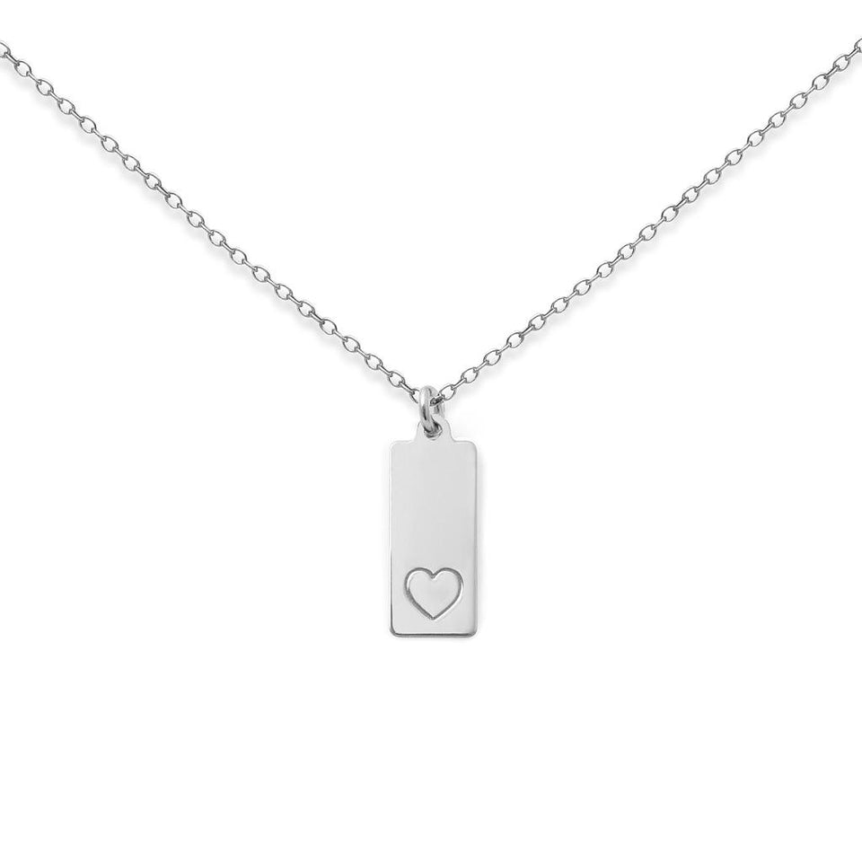 Make a Wish Heart Tag Necklace