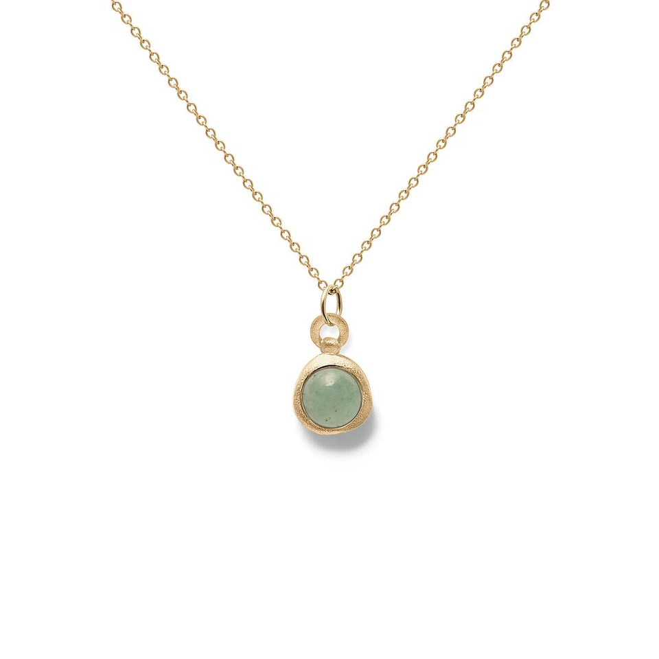 Zodiac Birthstone Necklace (Taurus) Solid Gold 14 ct
