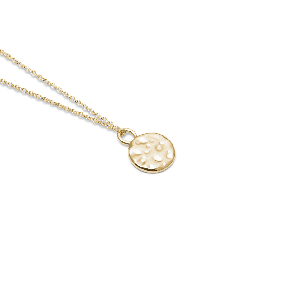Engravable Meadow + Solid gold anchor Chain