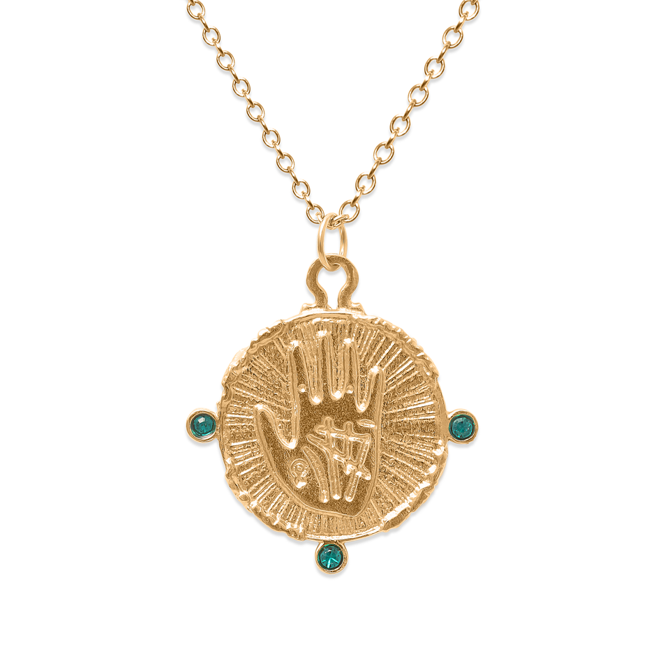 Gypsy Girl Emerald Necklace