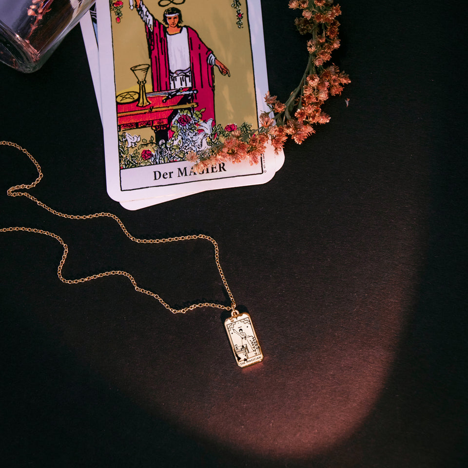 The Magician Tarot Card Necklace