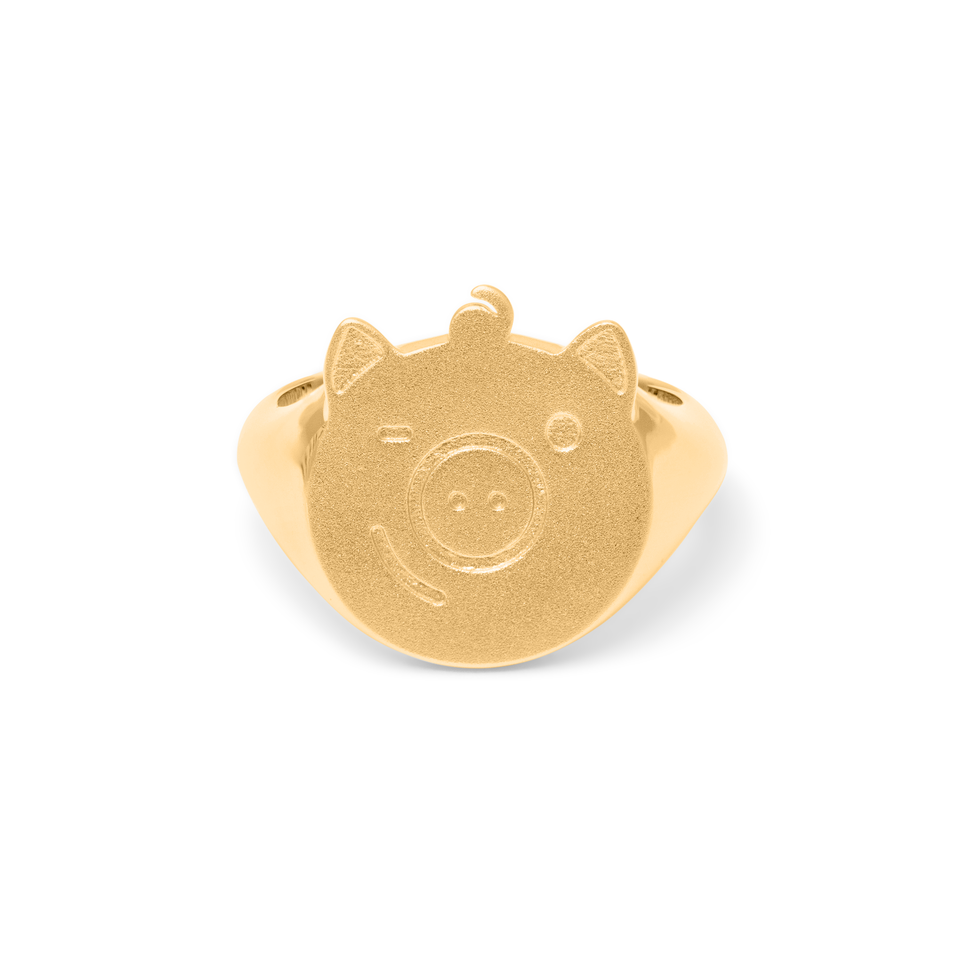 Gold Pigger Ring Women