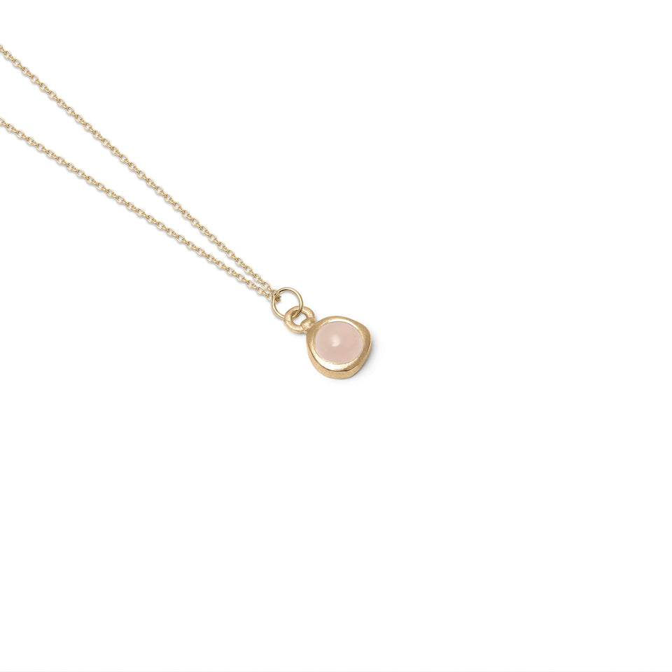 Zodiac Birthstone Necklace (Libra) Solid Gold 14 ct
