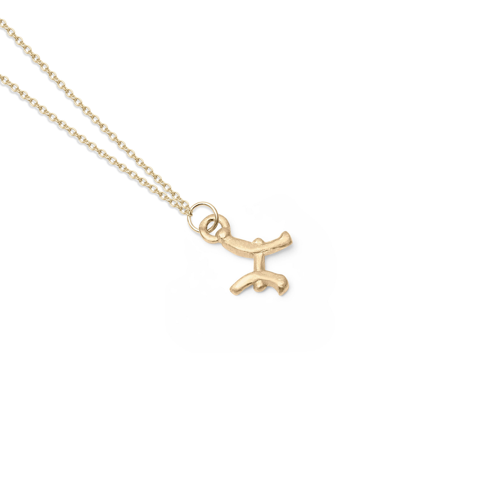 Zodiac Charm Necklace (Pisces) Solid Gold 14 ct