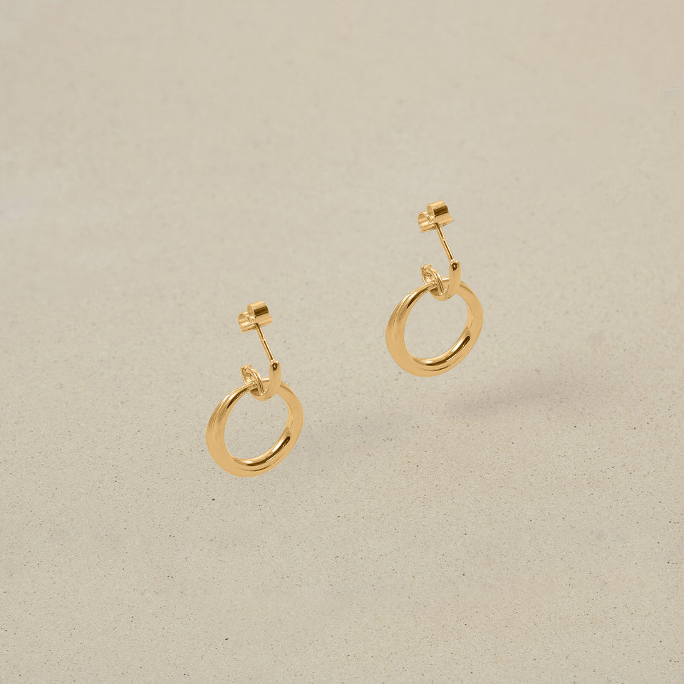 Bonds Path Hoop Earrings