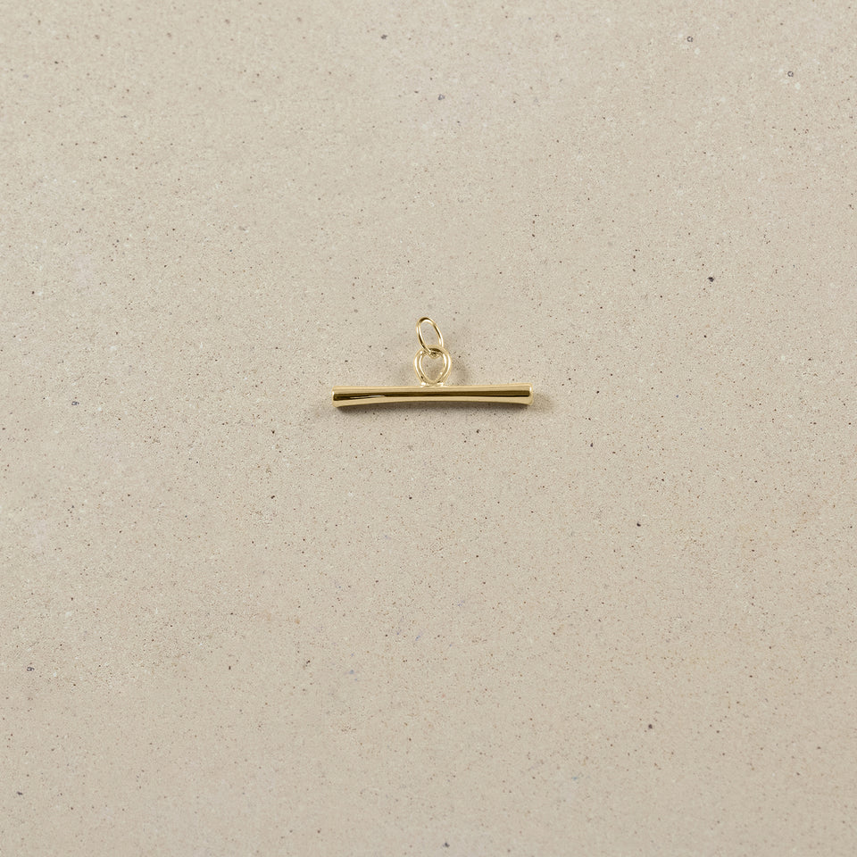 Bonds Path Bar Pendant - Solid Gold