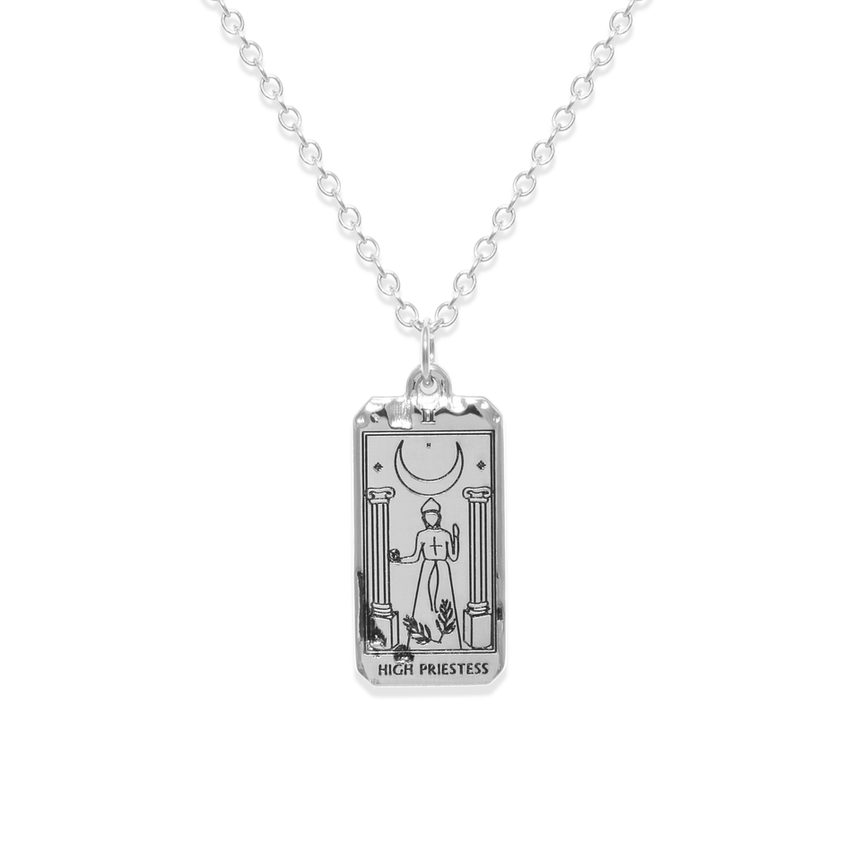 High Priestess Tarot Card Necklace