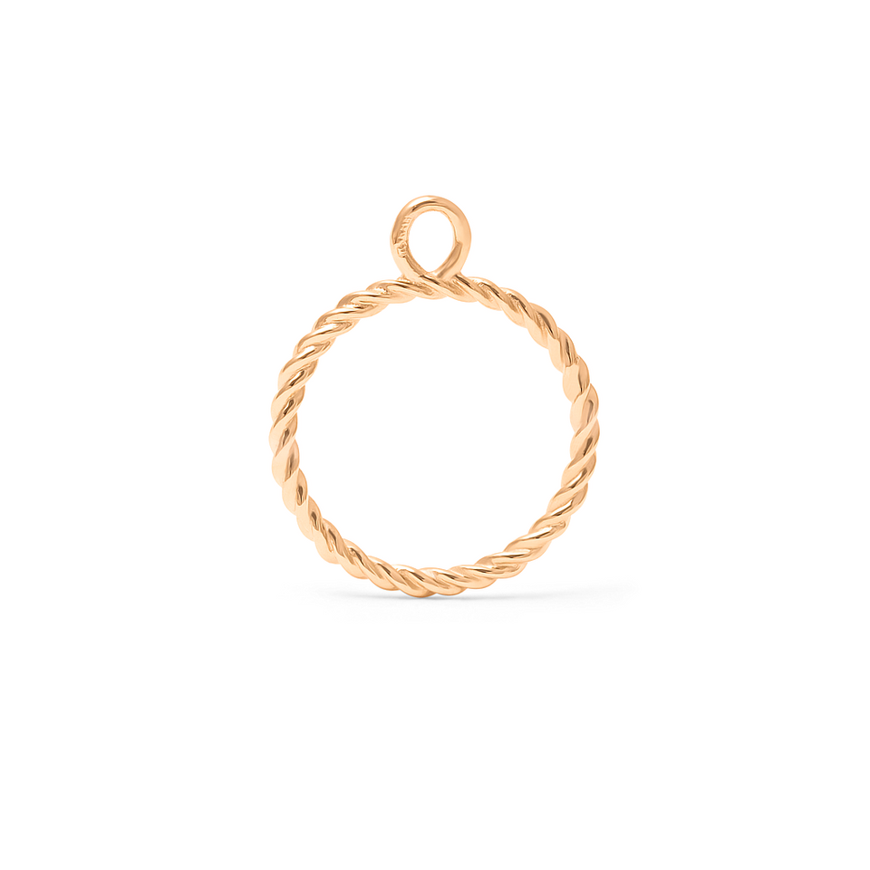Dune Pendant - Solid Gold