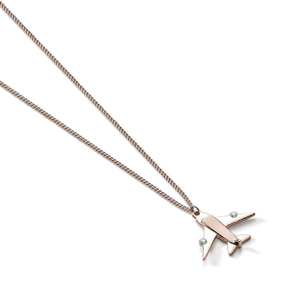 Travel Trinket Airplane Necklace