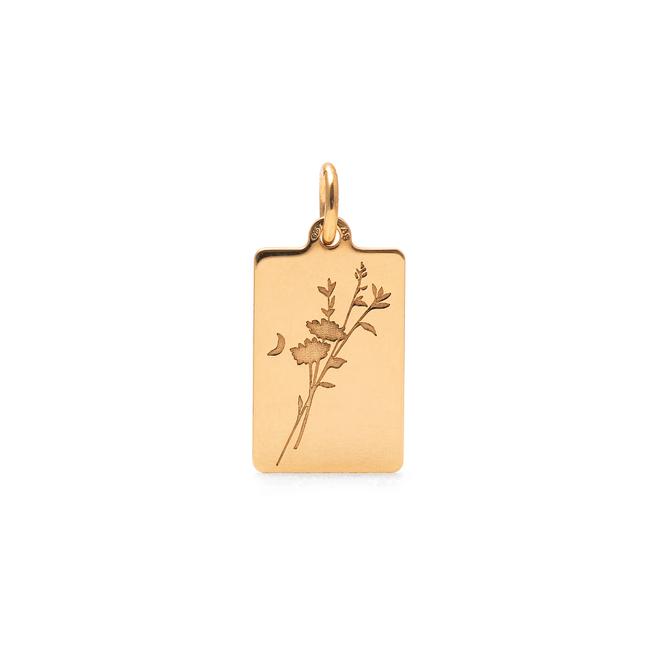 Chloris Flower Tag Pendant