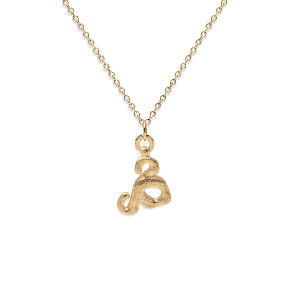 Zodiac Charm Necklace (Taurus) Solid Gold 14 ct