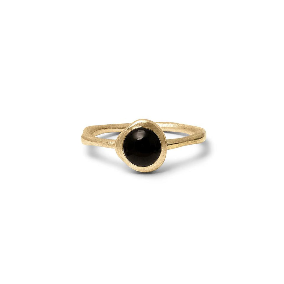 Zodiac Birthstone Ring (Leo) Solid Gold 14 ct