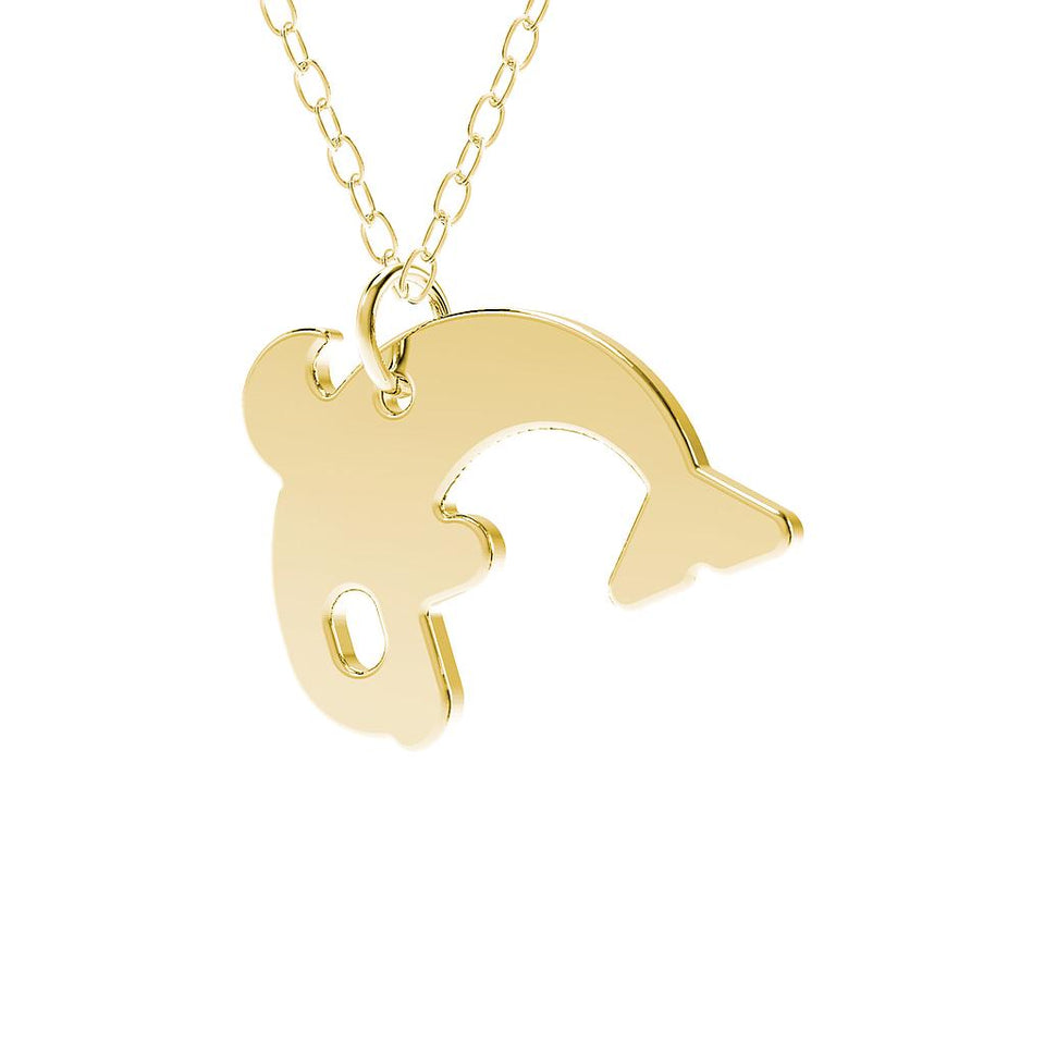 minimals orca necklace (45cm)