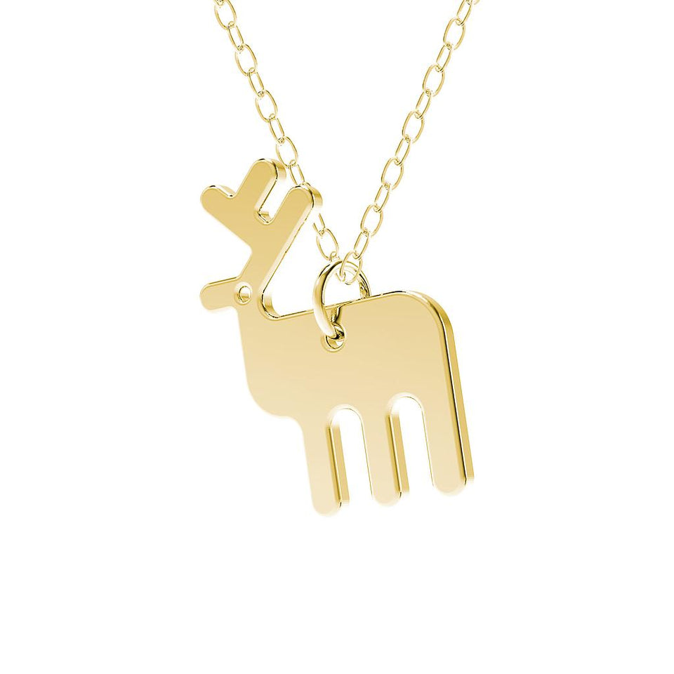 minimals stag necklace (45cm)