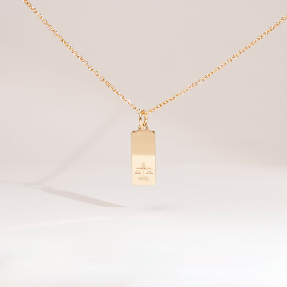 Make a Wish Libra Tag Necklace