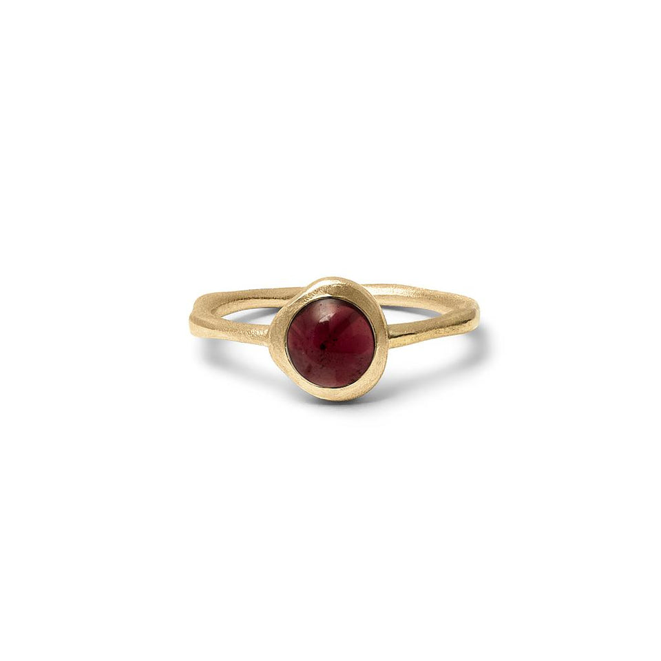 Zodiac Birthstone Ring (Capricorn) Solid Gold 14 ct