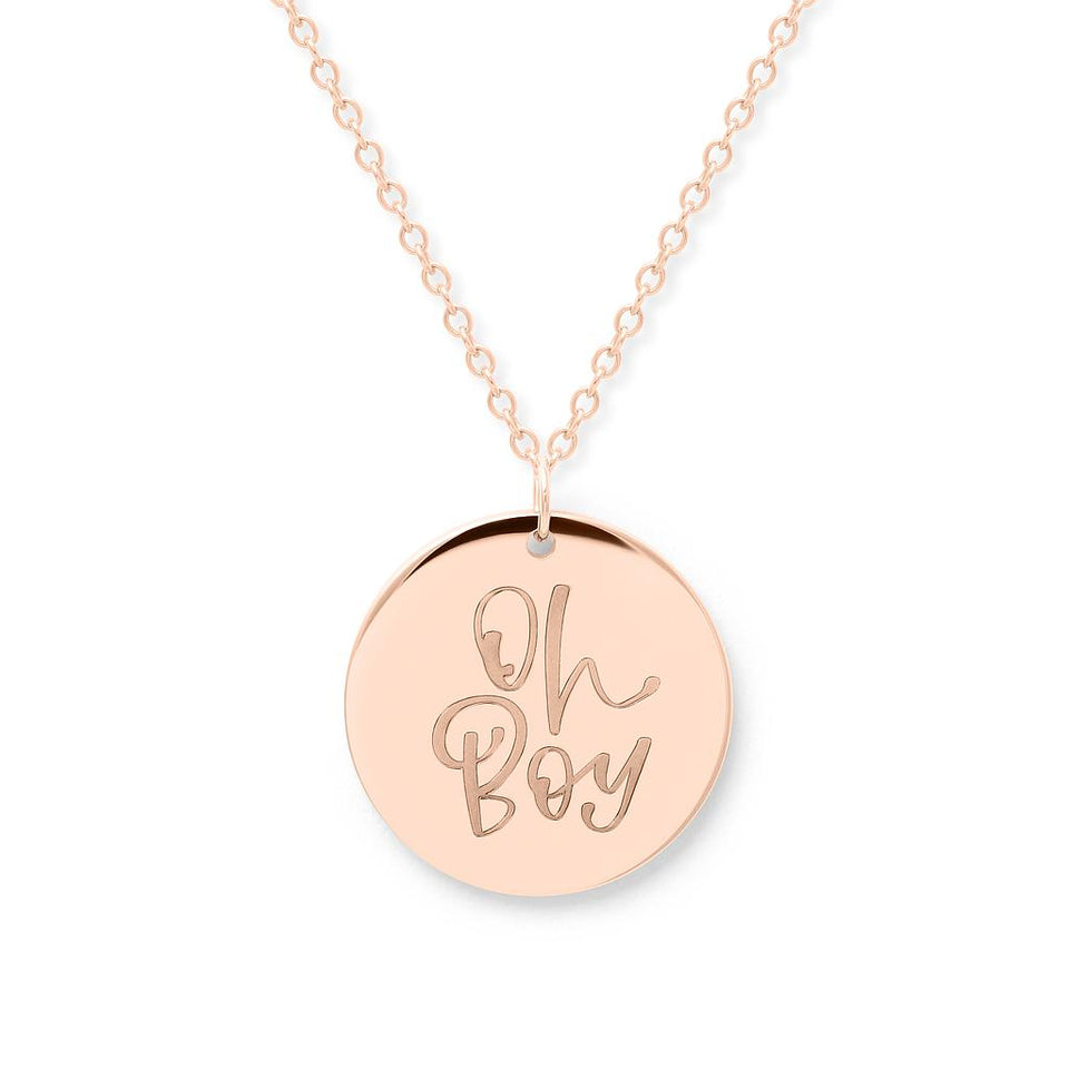Oh Boy Necklace #mommycollection