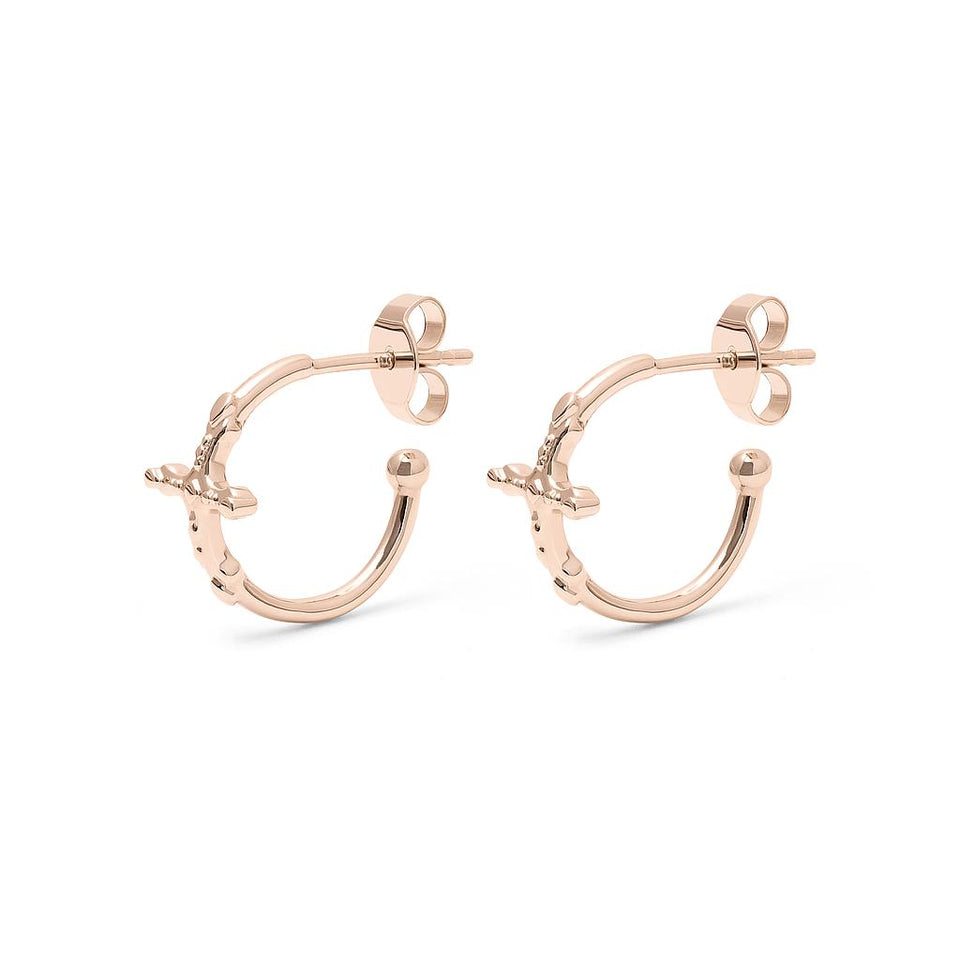 Belief Cross Ear Hoops