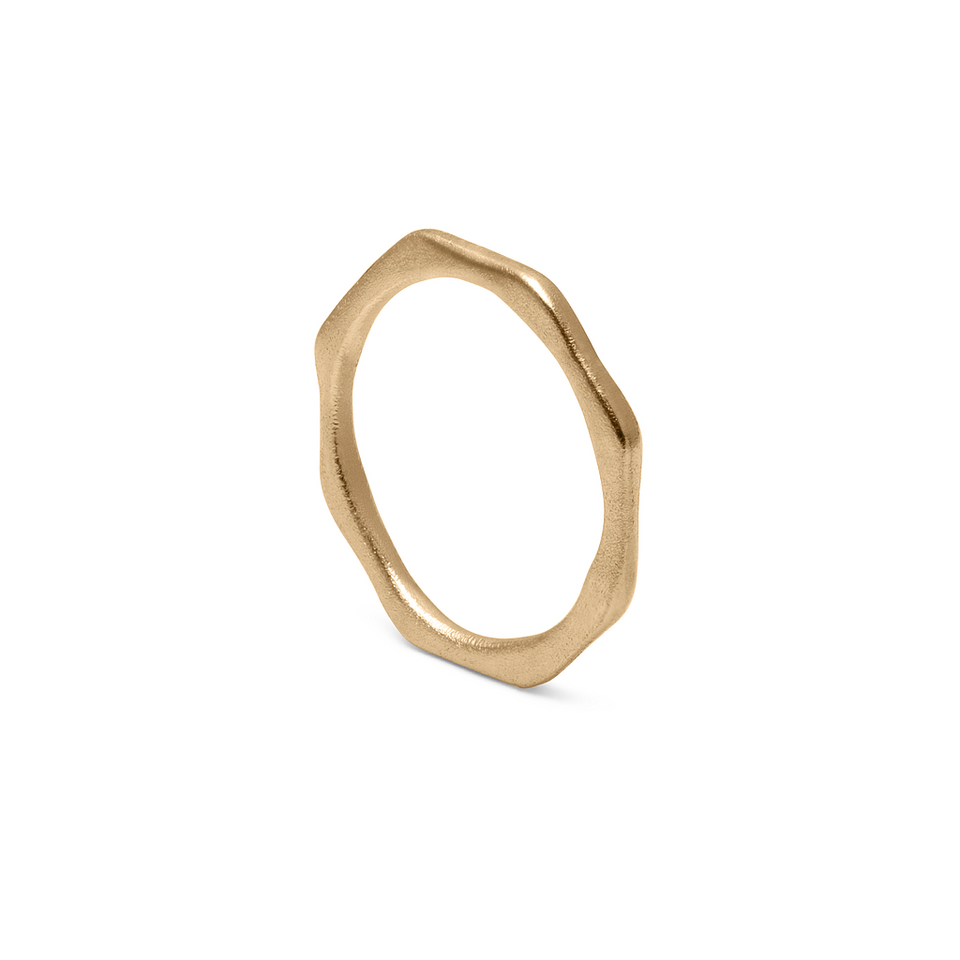 Fluid Ring Solid Gold 14 ct