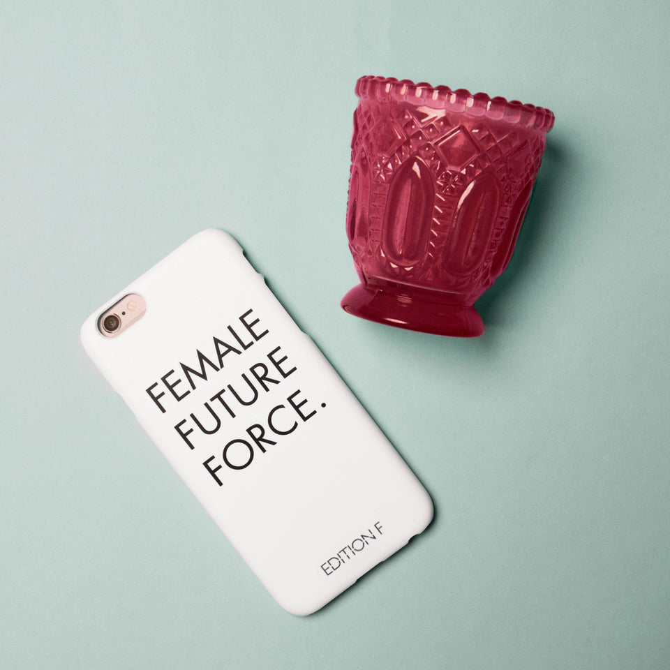 Female Future Force White Phonecase #fff