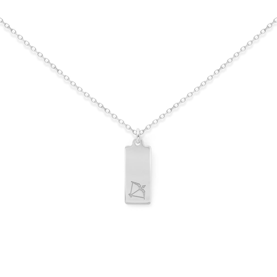 Make a Wish Sagittarius Tag Necklace
