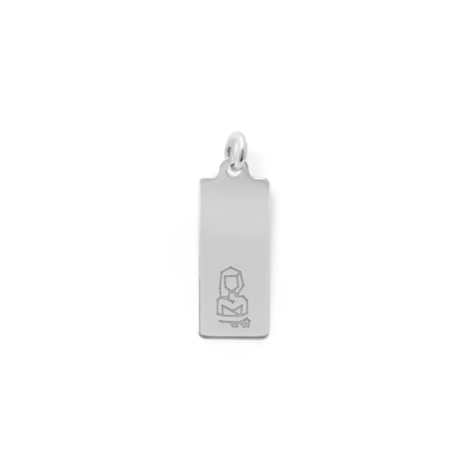 Make a Wish Virgo Tag Pendant