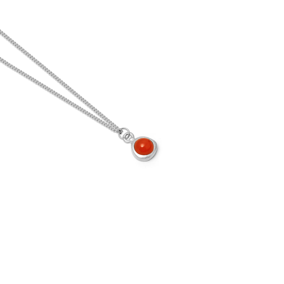 Zodiac Birthstone Necklace (Cancer)
