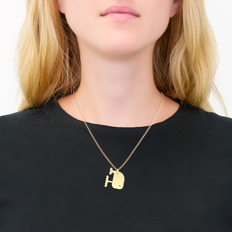 minimals whale necklace (45cm)