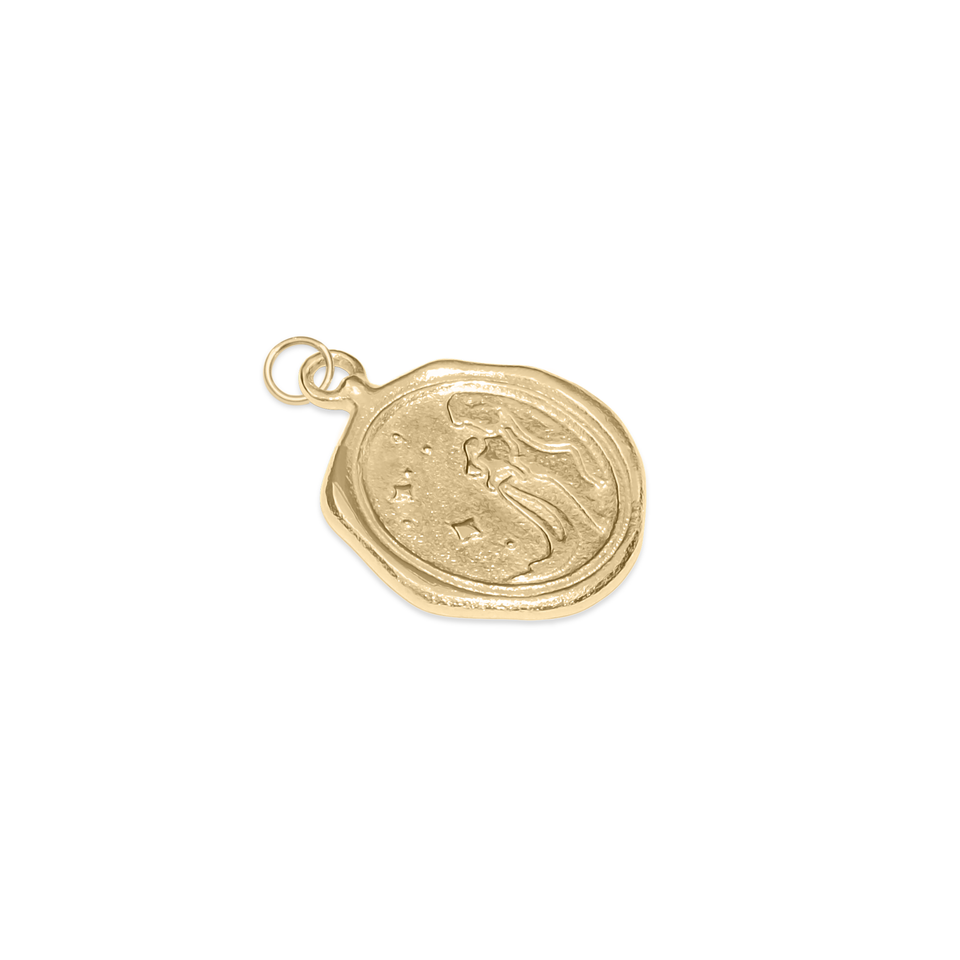Zodiac Seal Pendant Solid Gold 14 ct