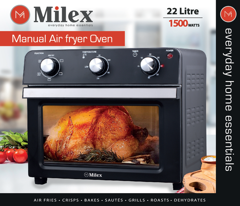 Milex 22L Electronic Air Fryer Oven