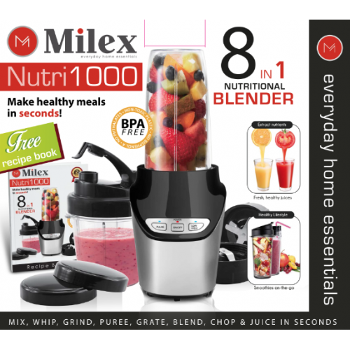Milex - 1000W Nutri1000 8-In-1 Blender