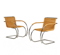 Wicker MR20 Armchairs by Ludwig Mies Van Rohe, Germany