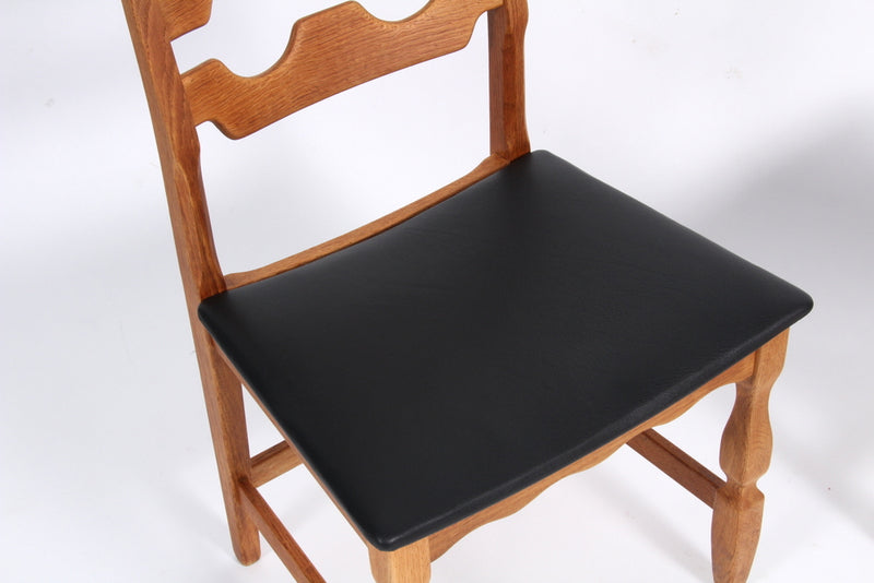 Set of Eight Dining Chairs by Henning Kjærnulf, Danish