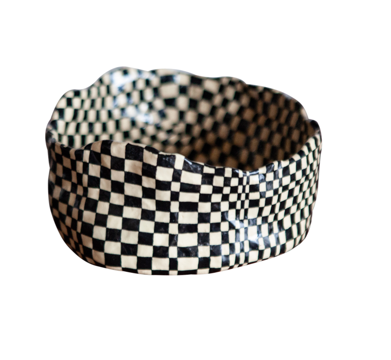Small Checkered Vessel by Samantha McIntyre