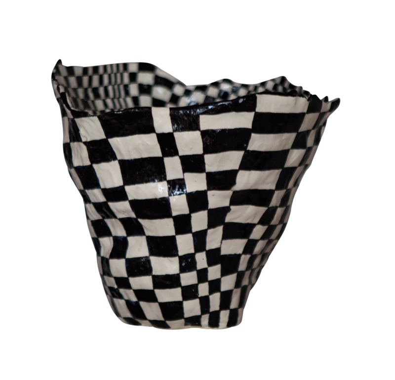 Large Checkered Vessel by Samantha McIntyre