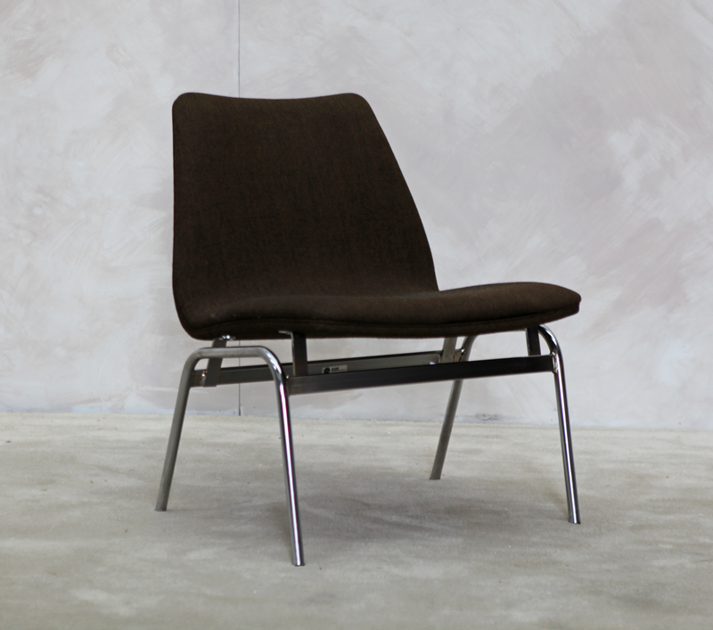 Low Easy Chair in Chrome, Danish, 70's