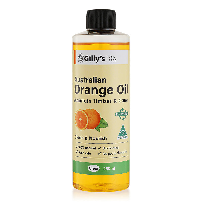 Orange Oil Furniture Polish - Clear, 250ml, Gilly's