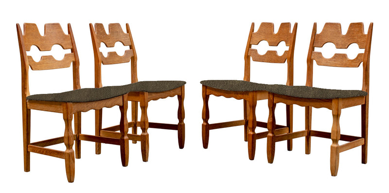 Set of Six Dining Chairs by Henning Kjærnulf, Danish