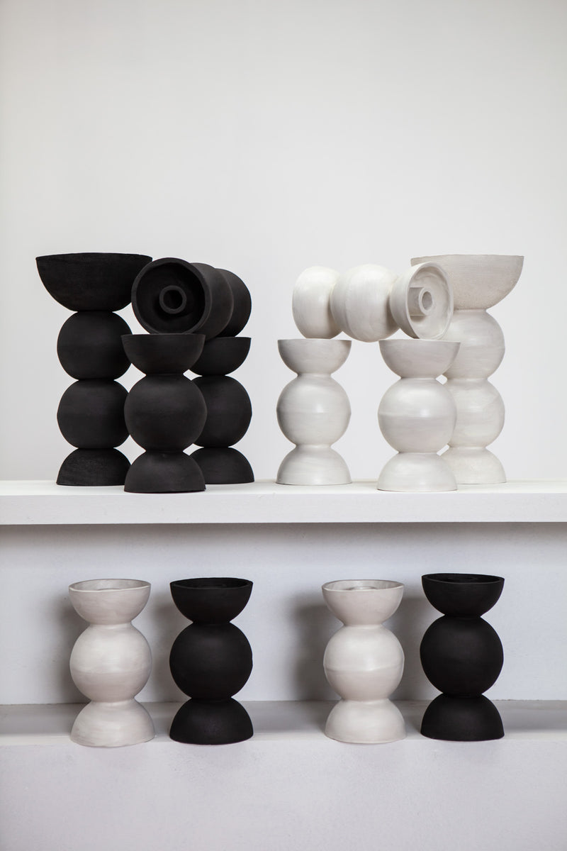 White Ceramic 'Orb' Candle Holder by iaai, Berlin