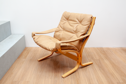 Bentwood Siesta Chair with Leather Seats, Danish, 1970's