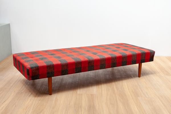 Plaid Checkered Daybed, Danish, 1970's